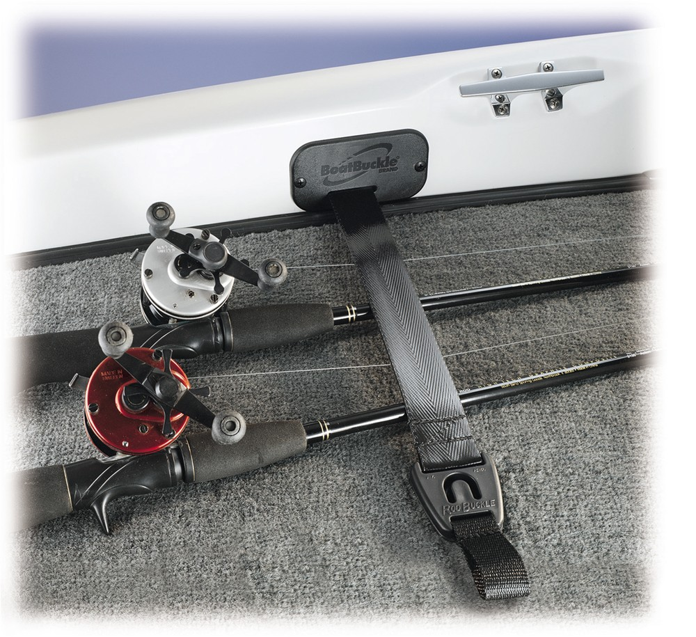 Rodbuckle retractable fishing rod tie down strap 2 x 24 for Fishing rod accessories