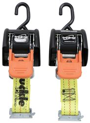 "CargoBuckle G3 Retractable Ratchet Straps w/ E-Track Adapters - 2"" x 6' - 833 lbs - Qty 2"