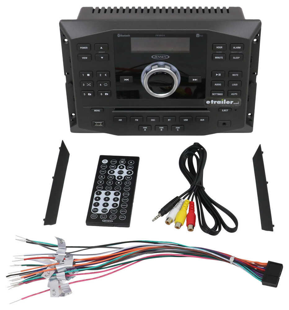 jensen rv stereo - double din - aux/usb, bluetooth, jcontrol - 12v  replacing the rv cable connection - youtube on imagine rv satellite wiring  diagram