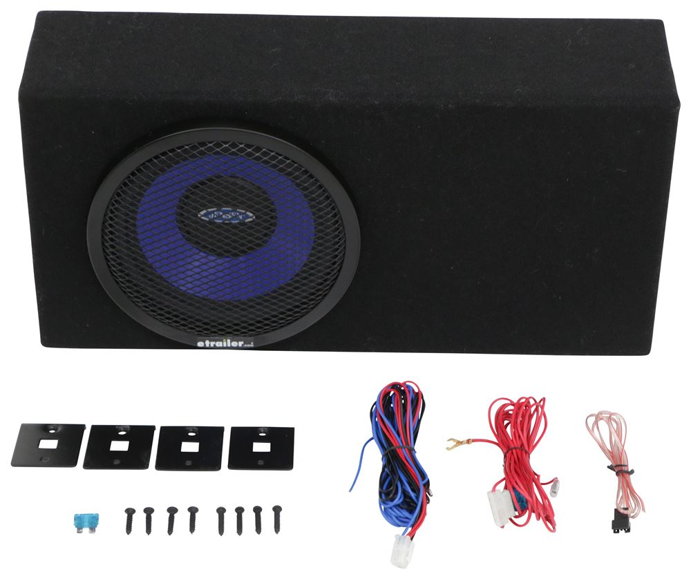 "Jensen 8"" Amplified Subwoofer with Enclosure - 150 Watt - 12 Volt Jensen RV  Speakers JXA8BA2"