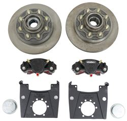 "Kodiak XL-Lube Disc Brake Kit - 13"" Hub/Rotor - 8 on 6-1/2 - Raw - 7K Dexter Nev-R-Lube Axle"