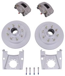 "Kodiak Disc Brake Kit - 13"" Hub/Rotor - 8 on 6-1/2 - Silver Cad and Stainless - 7,000 lbs"