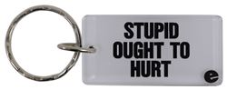Stupid Ought to Hurt Key Chain