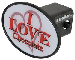 "I Love Chocolate 2"" Trailer Hitch Receiver Cover"