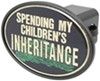 "Spending My Children's Inheritance 2"" Trailer Hitch Receiver Cover Happy Fun Covers KD5995H"