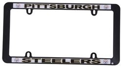 pittsburgh steelers nfl license plate frame plastic
