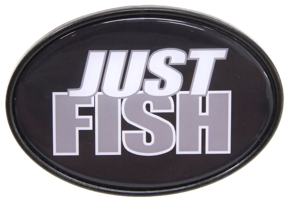 Just fish 2 trailer hitch receiver cover knockout hitch for Fish hitch cover