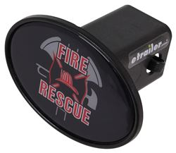 "Fire and Rescue 2"" Trailer Hitch Receiver Cover"