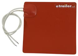 "Kat's Heaters Oil or Transmission Pan Heating Pad - 5"" x 5"" - 12V - 75 Watts"