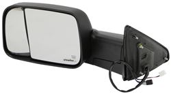 K-Source Custom Flip Out Towing Mirror - Electric/Heat w LED Signal, Lamp - Black - Driver