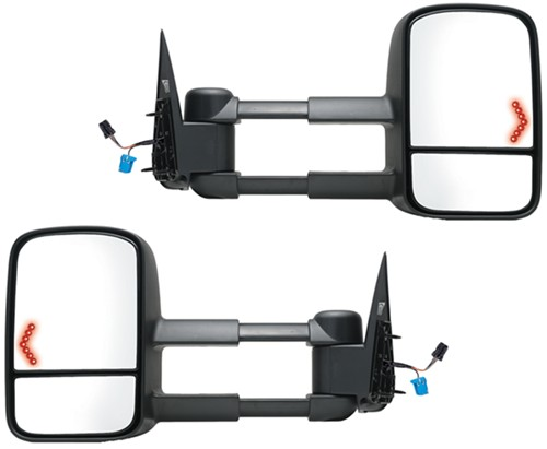 K Source Custom Extendable Towing Mirrors Electric Heat W Led Signal Textured Black Pair