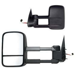K-Source Custom Extendable Towing Mirrors - Electric/Heat - Textured Black - Pair