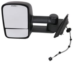 K-Source Custom Extendable Towing Mirror - Electric/Heat - Textured Black - Driver Side