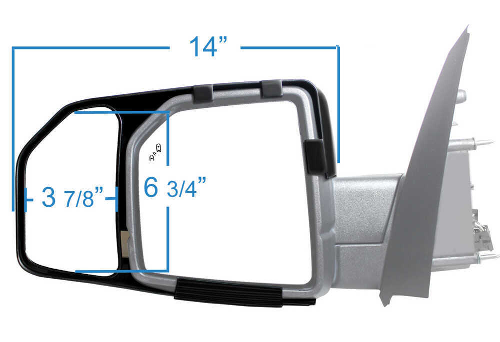 K-Source Snap & Zap Custom Towing Mirrors - Snap On - Driver and