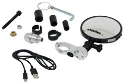 K-Source Vision System Wi-Fi Cycle Camera w/ Rearview Mirror - Black