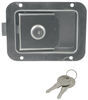 """""""Junior"""" Locking Stainless Steel Flush Door Latch with Inside Release Stainless Steel L1833"""