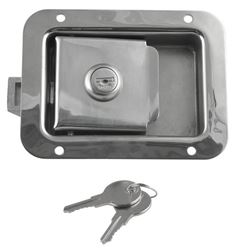 """Junior"" Locking Stainless Steel Flush Door Latch"