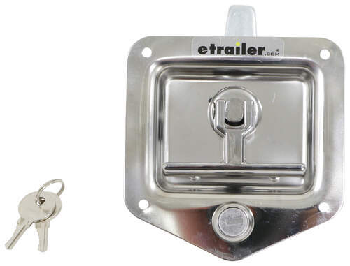 T-Handle Locking Stainless Steel Flush Door Latch  sc 1 st  eTrailer.com & What are the Dimensions of the T-Handle Locking Door Latch # L4080 ...