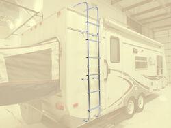 Stromberg Carlson RV Exterior Ladder w/ Hinges - Aluminum - 99-1/2