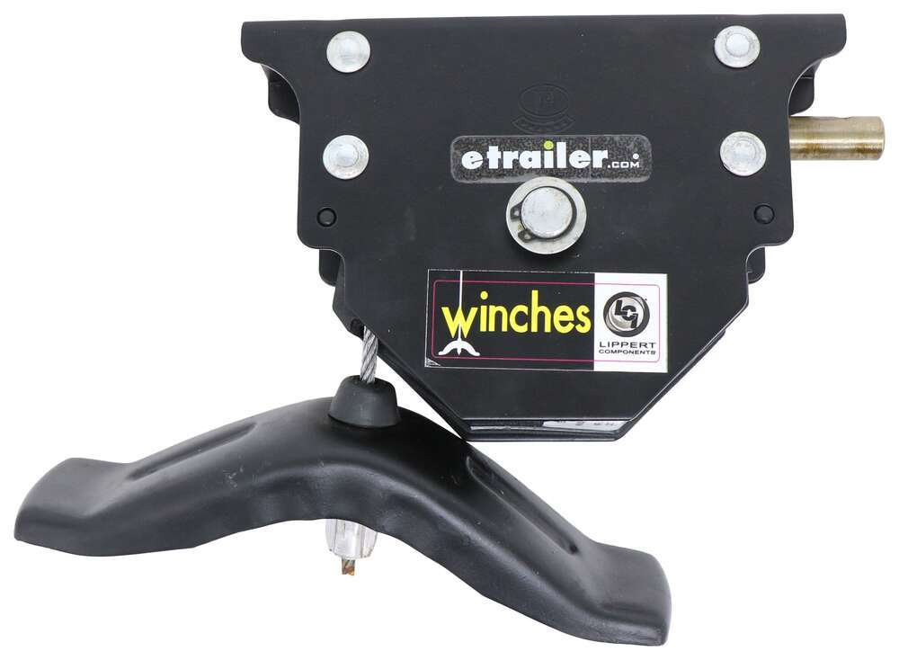 Lippert Components Spare Tire Winch with Offset Cable LC159056