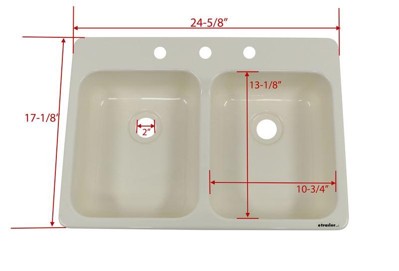 Better Bath Double Bowl Rv Kitchen Sink 24 5 8 Quot Long X