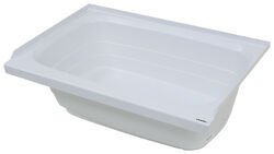 "Better Bath 36"" Long x 24"" Wide RV Bath Tub - Right Drain - White"