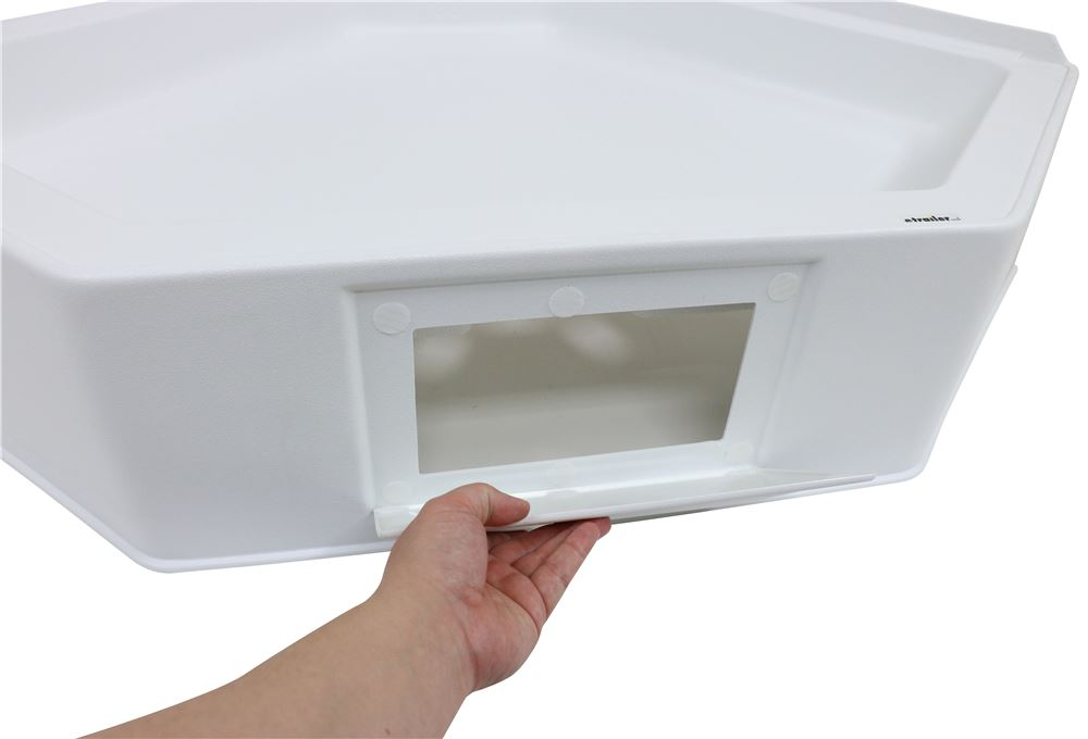 Lippert Components 209797 Better Bath White 34 x 34 Neo Angle RV Shower Pan