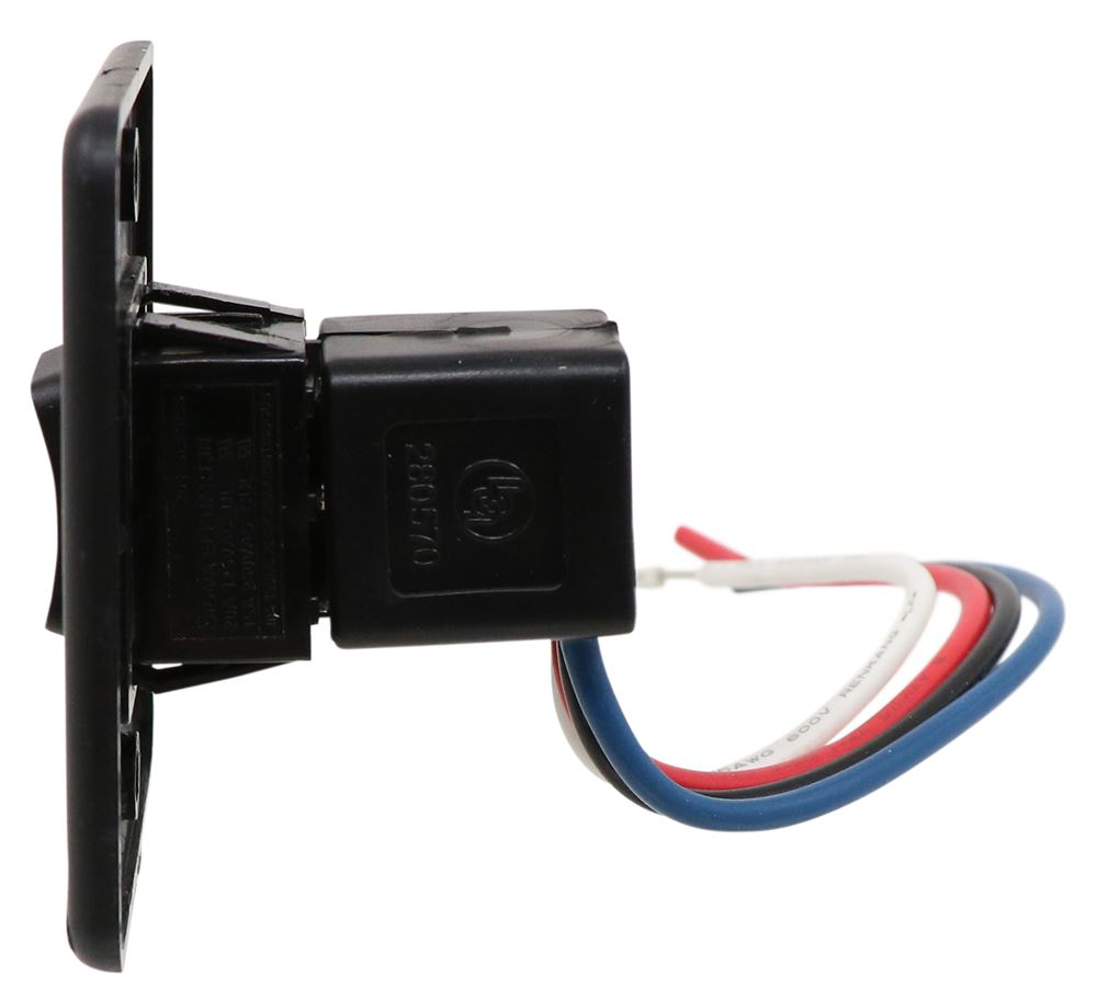 Solera Power Awning Switch Kit Black Lippert Components Accessories 1994 Wide Glide Wiring Diagram And Parts Lc285500