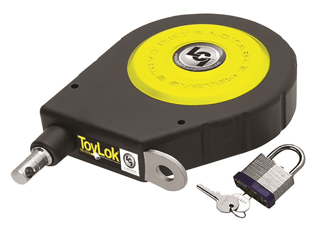 Retractable Security Cable : Toylok retractable cable lock with padlock