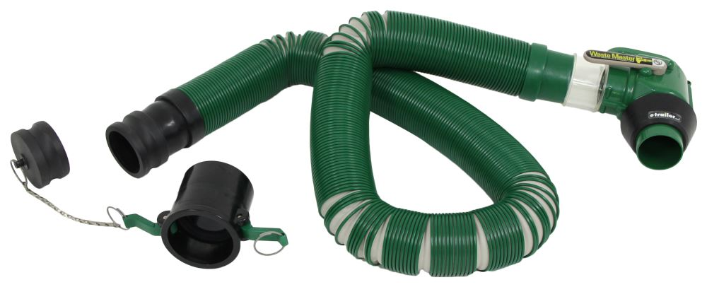 Waste Master RV Sewer Hose w/ Camlock Fittings, Nozzle, and Endcap - 20' Long 20 Feet Long LC359724