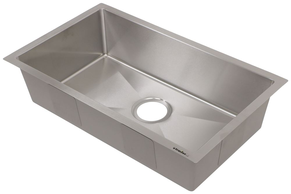 "Better Bath Single Bowl RV Kitchen Sink - 26"" Long x 16"" Wide - Stainless Steel Standard Bowl Sink LC385313"