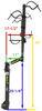 lippert components rv and camper bike racks hanging rack 2 bikes dimensions