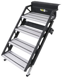 "SolidStep Manual Fold-Down Steps for RVs - 24"" Wide - Quadruple - Aluminum"