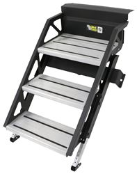 "SolidStep Manual Fold-Down Steps for RVs - 20"" Wide - Triple - Aluminum"