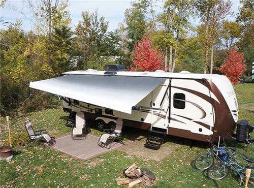 Solera Hybrid Rv Awning 16 Wide Hand Crank Operation