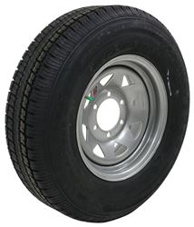 "Castle Rock ST225/75R15 Radial Trailer Tire w/ 15"" Silver Spoke Wheel - 6 on 5-1/2 - LR D"