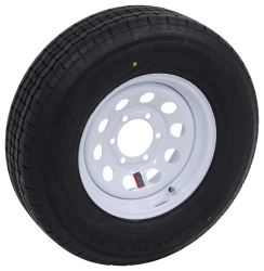 "Westlake ST225/75R15 Radial Trailer Tire w/ 15"" White Mod Wheel - 6 on 5-1/2 - Load Range E"