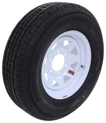 "Westlake ST225/75R15 Radial Trailer Tire w/ 15"" White Spoke Wheel - 6 on 5-1/2 - Load Range E"