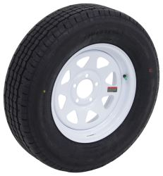 "Westlake ST205/75R15 Radial Trailer Tire w/ 15"" White Spoke Wheel - 5 on 4-1/2 - Load Range D"