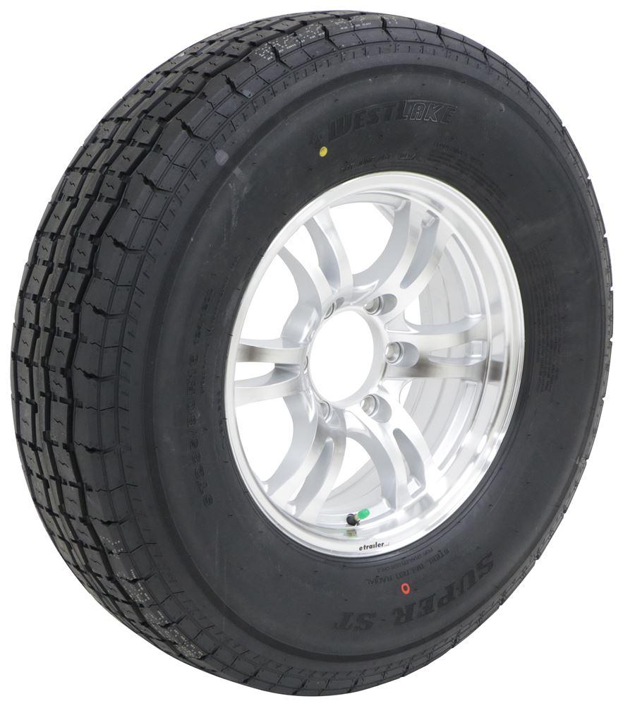 "Westlake ST235/80R16 Radial Tire w 16"" Jaguar Aluminum Wheel - 6 on 5-1/2 - LR E - Silver 235/80-16 LHAWSJ511S"