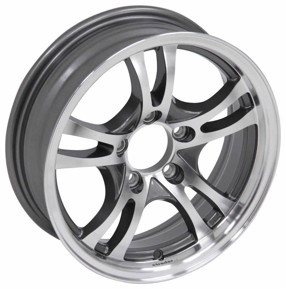 aluminum jaguar trailer wheel 15 x 5 rim 5 on 4 1 2 gunmetal Horse Trailor aluminum jaguar trailer wheel 15 x 5 rim 5 on 4 1 2 gunmetal gray lionshead tires and wheels lhsj301g