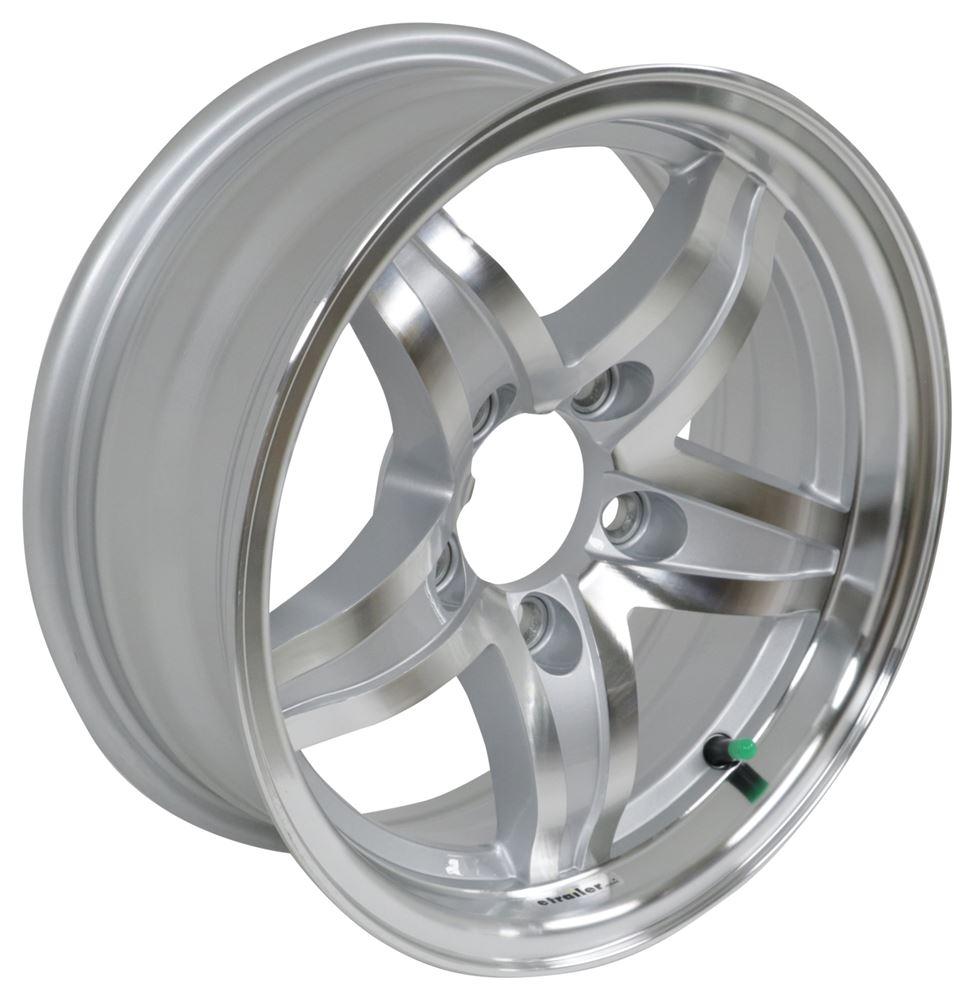 "Lug Pattern >> Aluminum Lynx Trailer Wheel - 14"" x 5-1/2"" Rim - 5 on 4-1/2 Silver Lionshead Tires and Wheels ..."