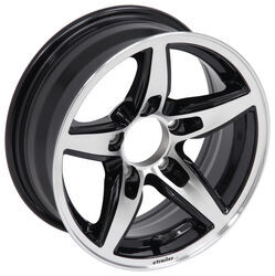 "Aluminum Bobcat Trailer Wheel - 14"" x 5-1/2"" Rim - 5 on 4-1/2 - Black"