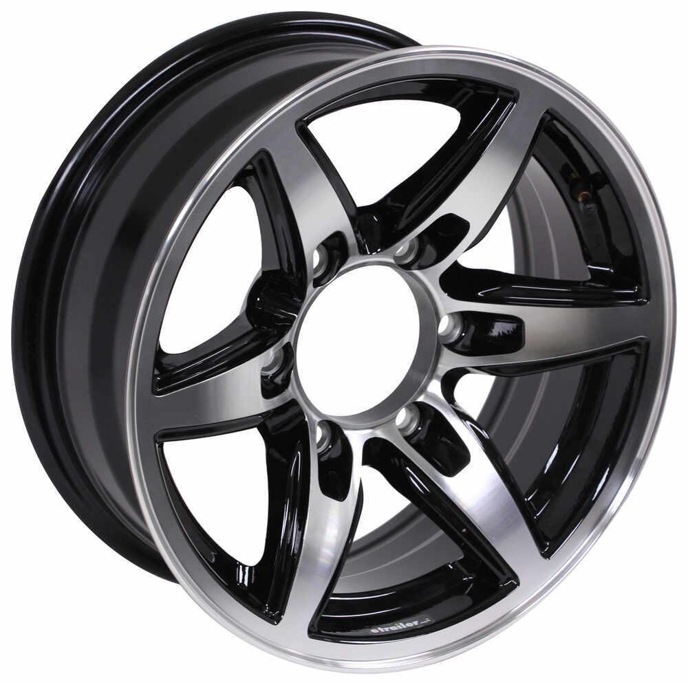 aluminum bobcat trailer wheel 15 x 6 rim 6 on 5 1 2 black lionshead tires and wheels. Black Bedroom Furniture Sets. Home Design Ideas