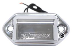 Optronics Mini LED Trailer License Plate Light w/ Chrome Housing - 2 Diodes - Rectangle - Clear Lens
