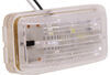 LED Trailer License Plate Light - Submersible - 2 Diodes - Rectangle - Clear Lens Submersible Lights LPL91CB