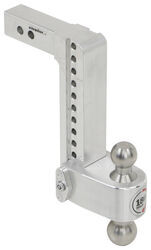 "180 Hitch 2-Ball Mount w/ Stainless Steel Balls - 2"" Hitch - 10"" Drop, 11"" Rise - 10K"