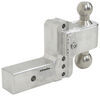 weigh safe trailer hitch ball mount adjustable two balls 180 2-ball w/ stainless - 2-1/2 inch 4 drop 5 rise 14.5k