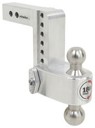 "180 Hitch 2-Ball Mount w/ Stainless Steel Balls - 2"" Hitch - 6"" Drop, 7"" Rise - 10K"
