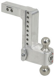 "180 Hitch 2-Ball Mount w/ Stainless Steel Balls - 2"" Hitch - 8"" Drop, 9"" Rise - 10K"